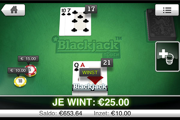 blackjack op iphone
