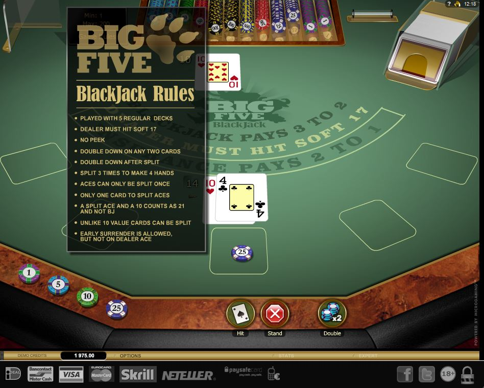 big_five_blackjack_goldseries